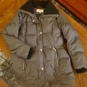 Michael Kors women's down winter coat dark grey m